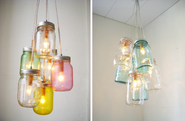Diy mason jar projects design sensibility - Lampe suspension ampoule ...