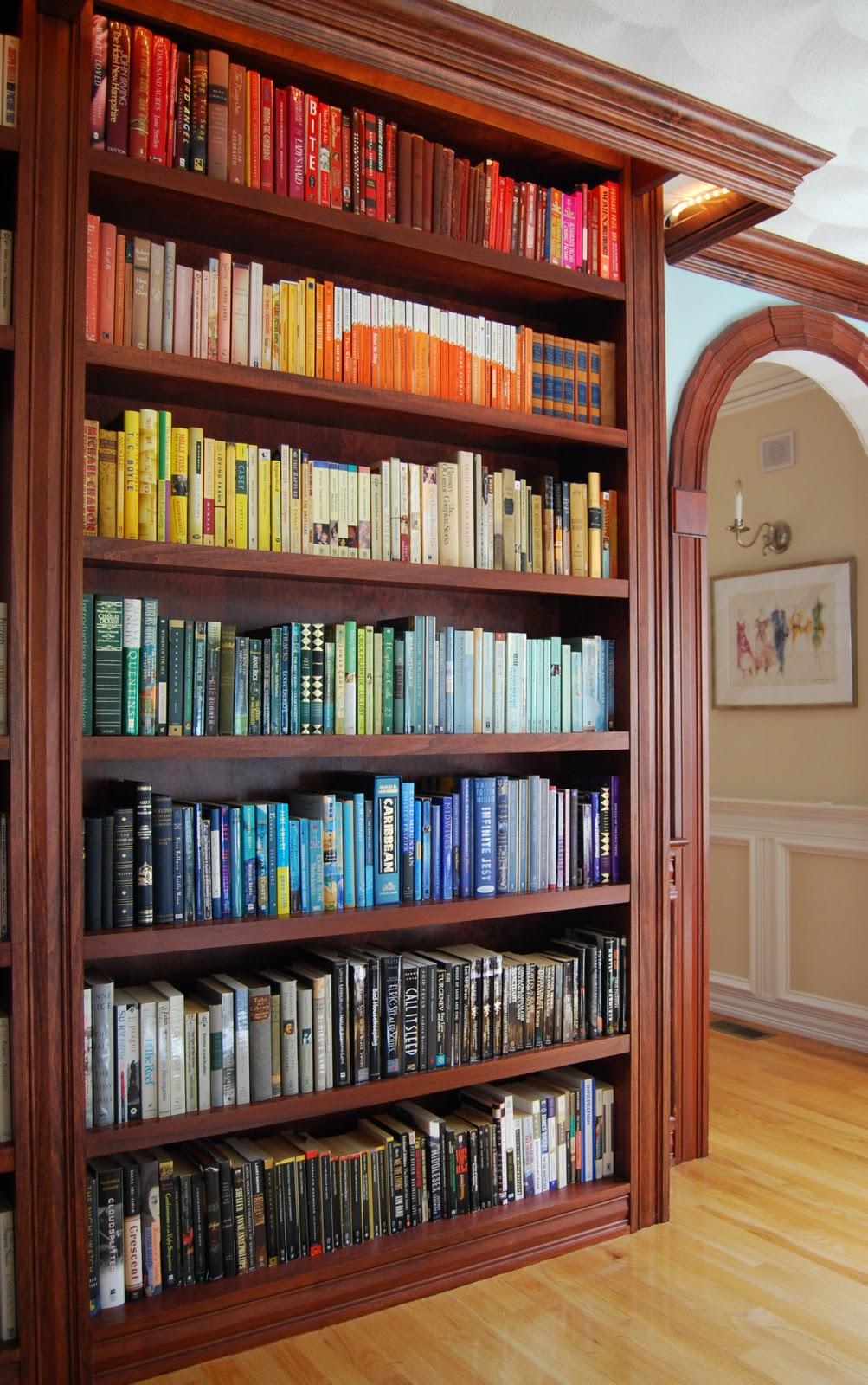 Co colour coordinated bookshelf - All The Blogs Mentioning Color Coding Bookshelves