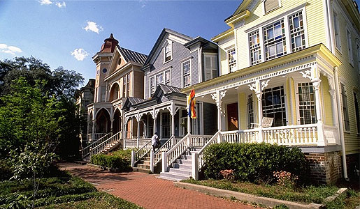 Beach house design sensibility for Victorian houses for sale in georgia