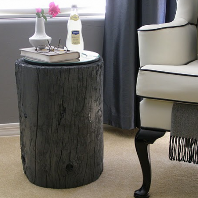 Obsessions rustic stump furniture design sensibility for Wood stump end table