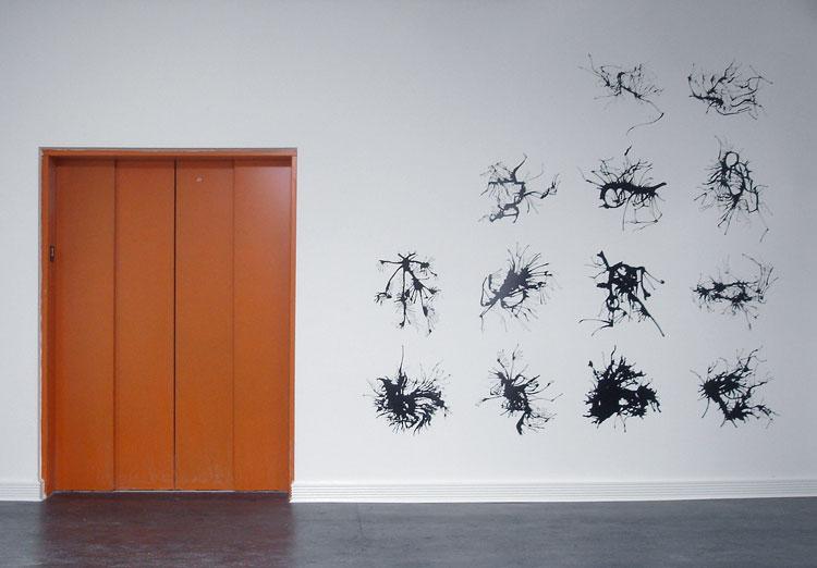Wall Of Paint Splatters
