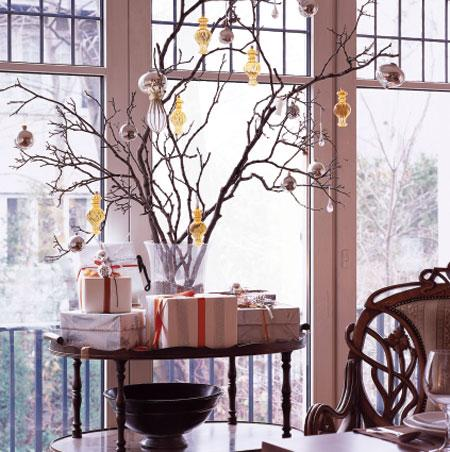 Branch Christmas Tree design sensibilities | tree branches as decor | design sensibility