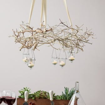tree-branch-chandelier-interior-design-decor-interiors-dining-room-design The Dinner Party | Using Tree Branches for Decoration