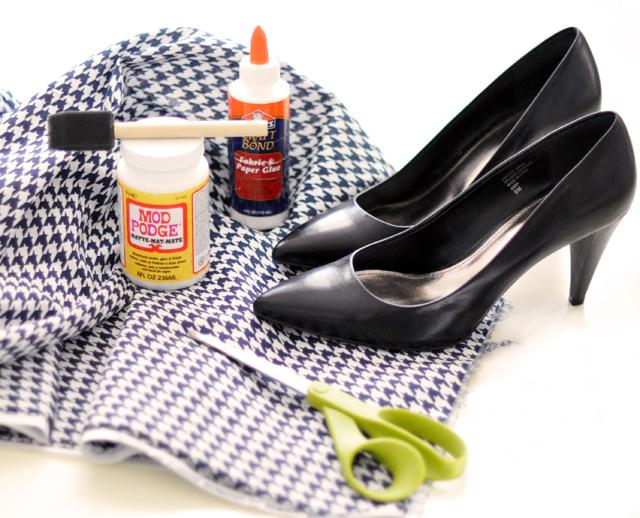 Diy houndstooth shoes design sensibility for Diy shoes design
